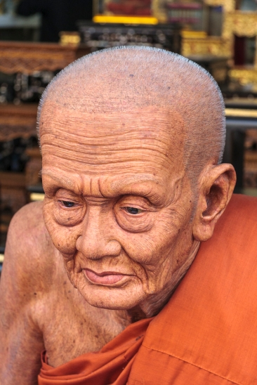 Fine sculpture art of budhistic monk - Bangkok Thailand