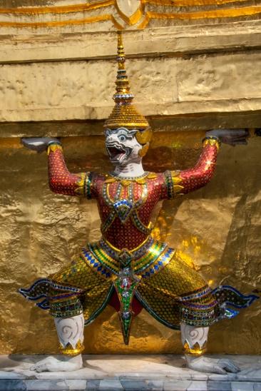 Typical temple art - Bangkok, Thailand