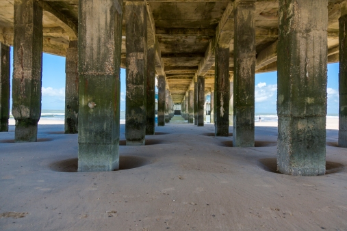 Beneath the sea pier - North Sea, Blankenberghe, Begium