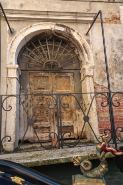 View on ancient entrance - Venice, Italy