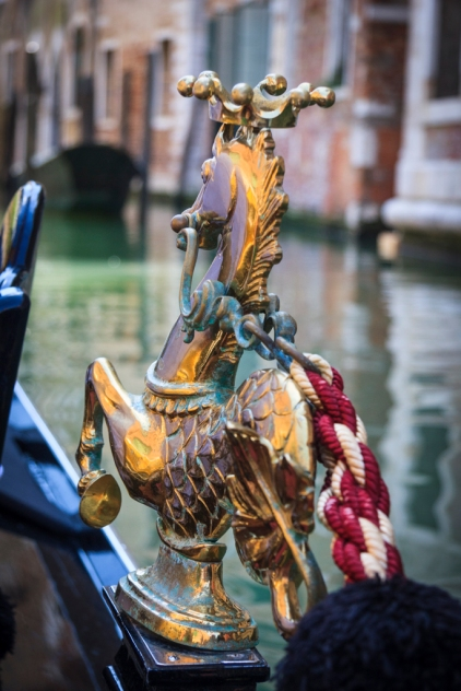 Ornament on a gondola - Venice, Italy